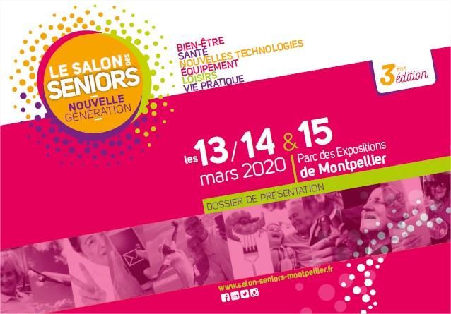 Salon des Seniors nouvelle génération les 13, 14 et 15 mars 2020 à Montpellier